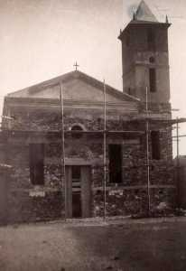 Chiesa di Stintino anni 1936/1937  - foto gruppo pubblico -VECCHIA STINTINO-