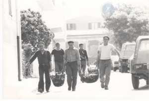 Da sinistra: Greco Giacomino, Greco Crescenzio, Denegri Mario, dietro a sinistra Barabino Giacomino